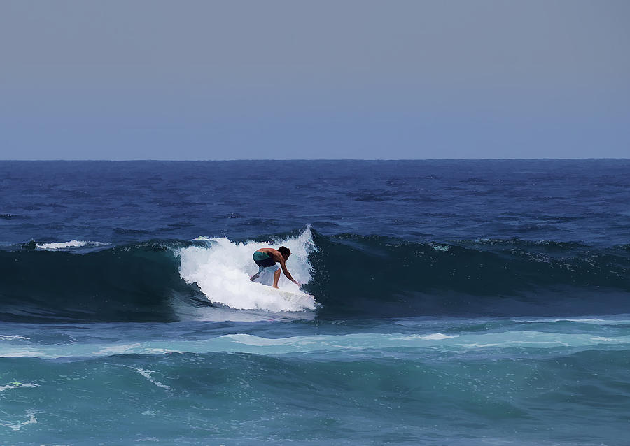 Surfing Photograph - Surfing The Waves by Pamela Walton