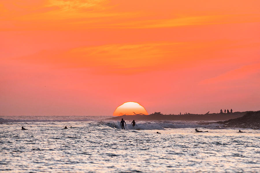 Surf Photograph - Surfing Together by Sean Davey