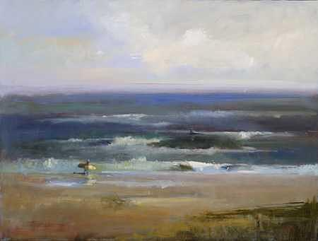 Surfs Up Painting by Elle Foley
