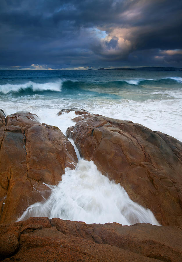 Waves Photograph - Surfs Up by Mike  Dawson