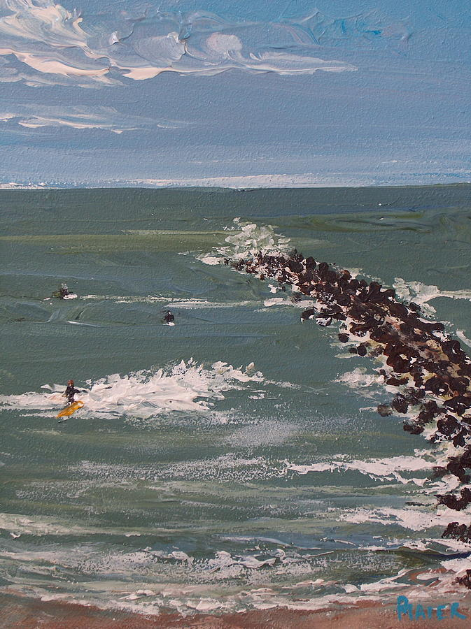 Seascape Painting - Surfs Up by Pete Maier
