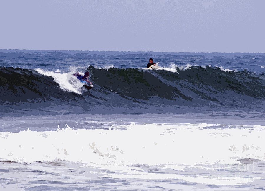 Surfing Photograph - Surfs Up by Ronald Campbell