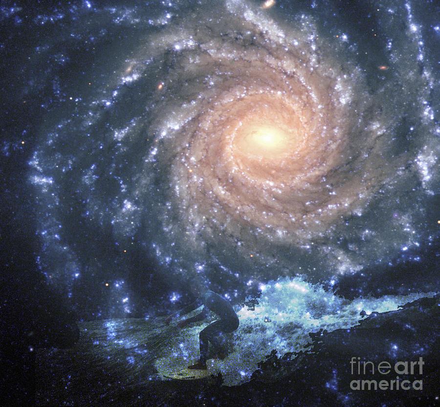 Space Digital Art - Surfs Way Up by Scott Evers