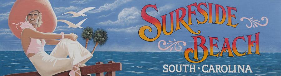 Surfside Beach Sign by Barbara McDevitt