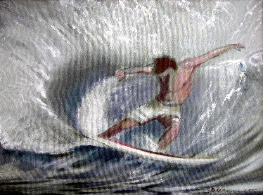 Surfing Painting - Surfsup by Patrick McClintock