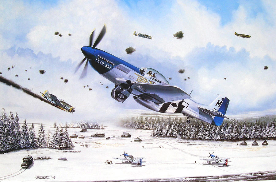 Aviation Painting - Surprise At Asch by Marc Stewart