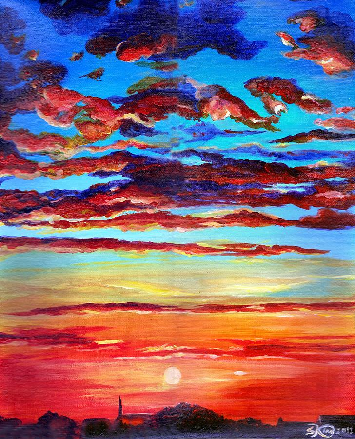 Landscape Painting - Surprise Ending by Suzanne King