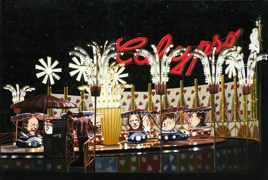 Surreal Painting - Surreal Carnival by Dave Martsolf