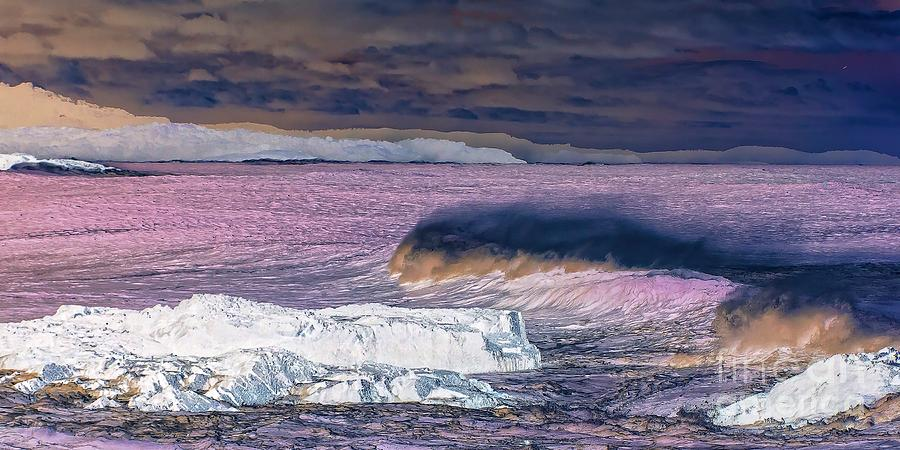 Surreal Cold Wild Ocean. by Geoff Childs