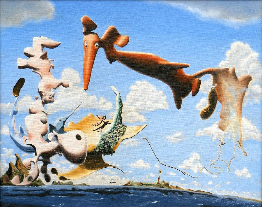 Surreal Painting - Surreal Friends by Dave Martsolf