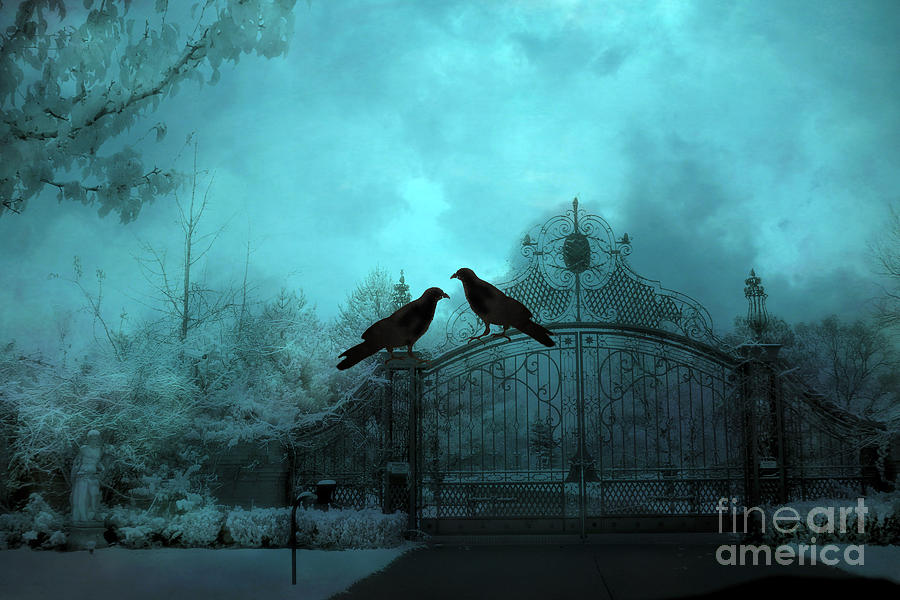 Surreal Gothic Ravens Fantasy Art Gate Scene Photograph By