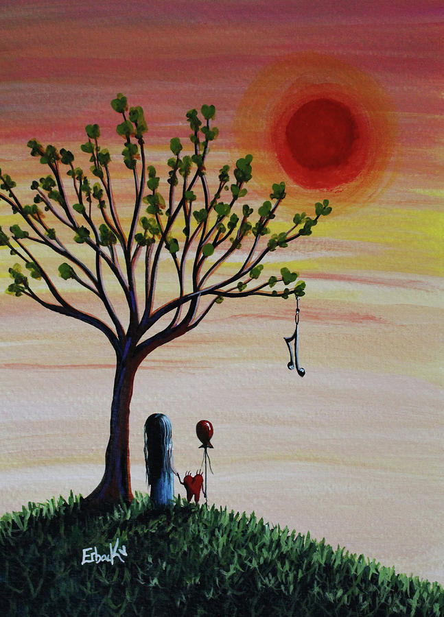 Surreal Landscape Art With Tree Of Life by Erback Art