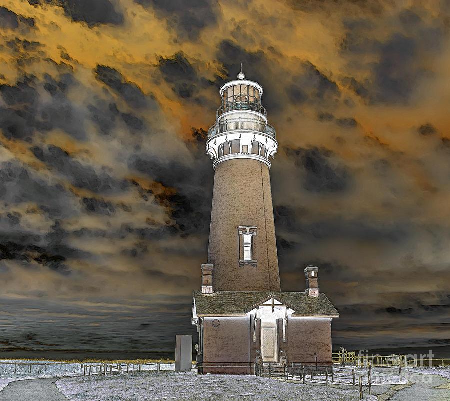 Surreal Lighthouse Photograph