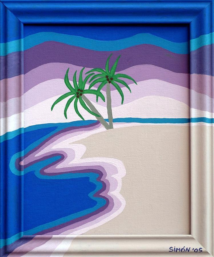 Landscape Painting - Surreal Palms by Lourdes  SIMON