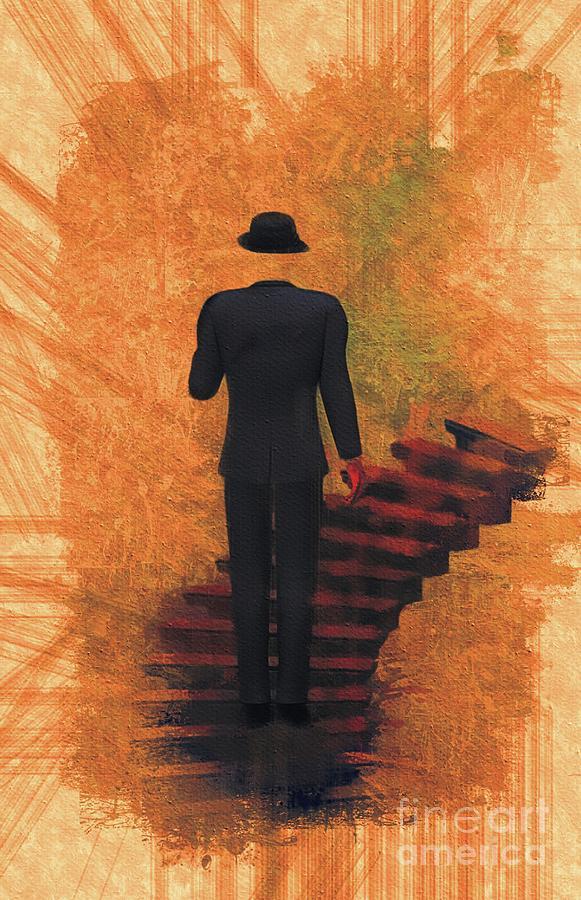 Surreal Stairway Painting