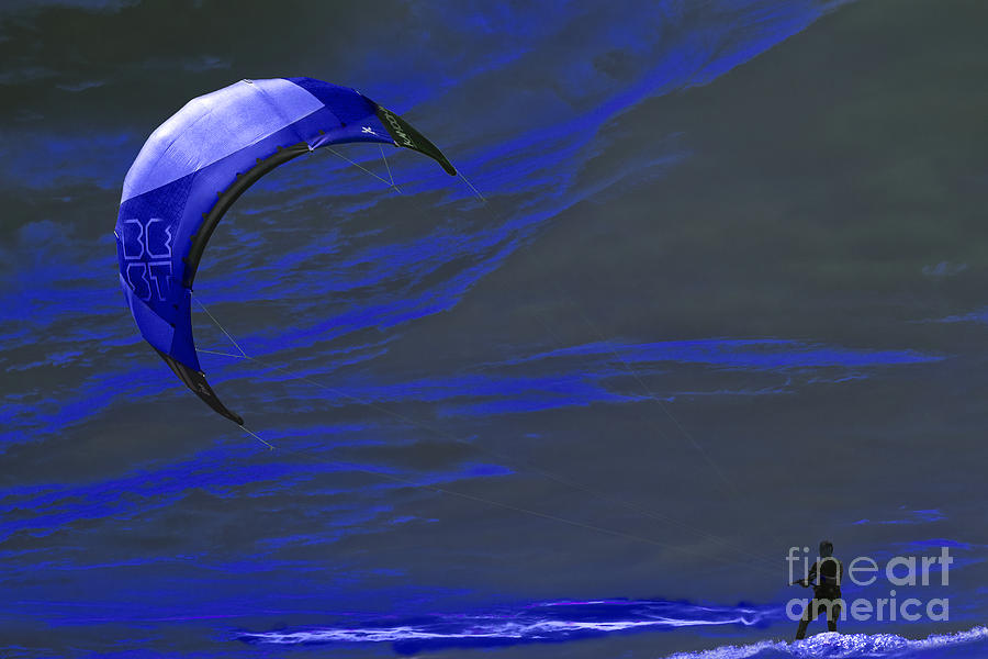 Surreal Surfing Blue Photograph