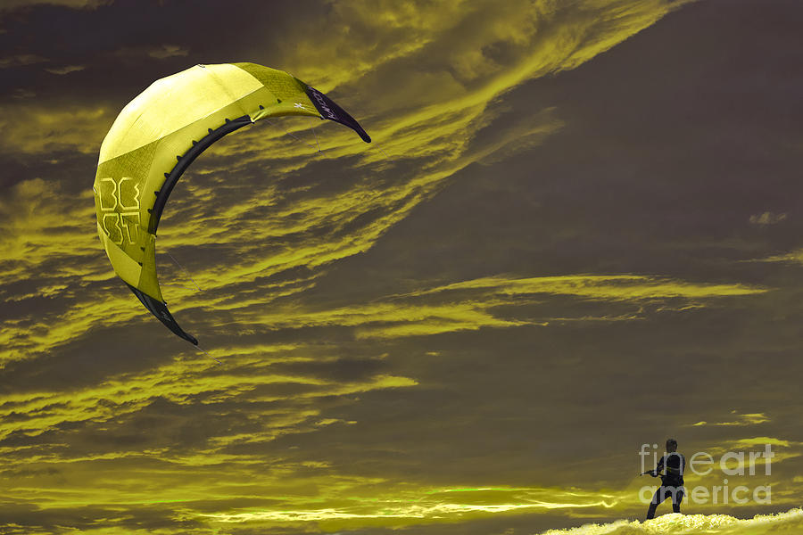 Surreal Surfing Gold Photograph
