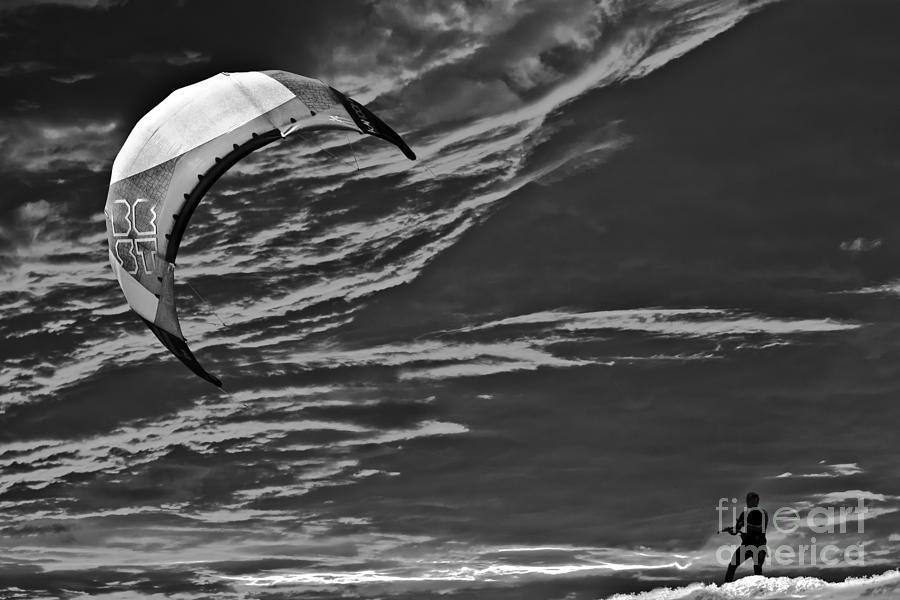 Surreal Surfing Mono Photograph