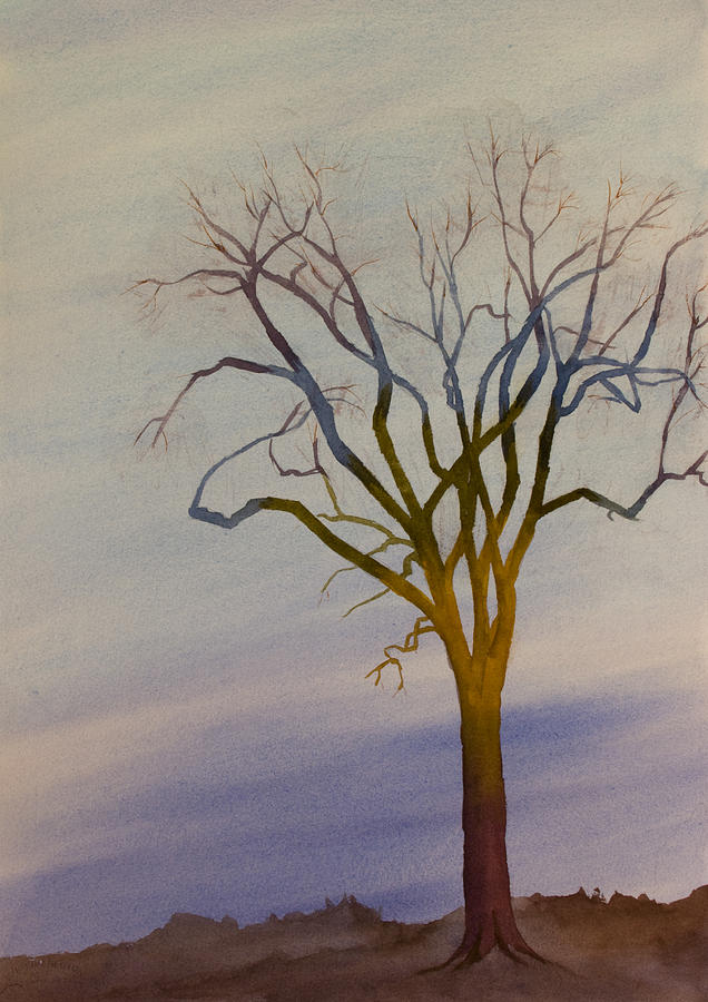 Surreal Painting - Surreal Tree No. 1 by Debbie Homewood