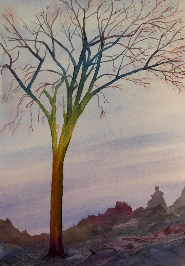 Abstract Painting - Surreal Tree No. 2 by Debbie Homewood