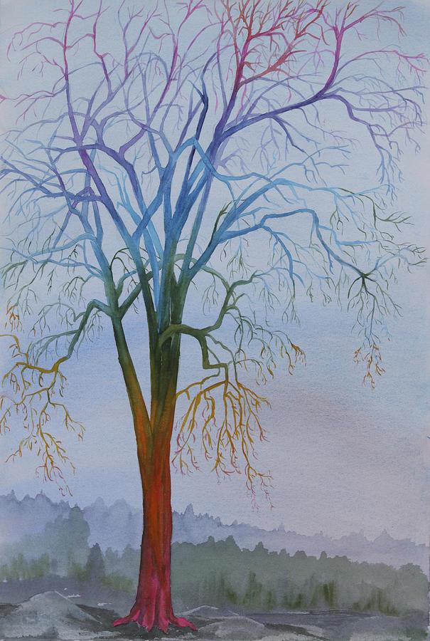 Rainbow Painting - Surreal Tree No. 3 by Debbie Homewood