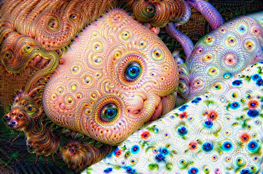 surreal trippy deep dream doll digital art by matthias hauser