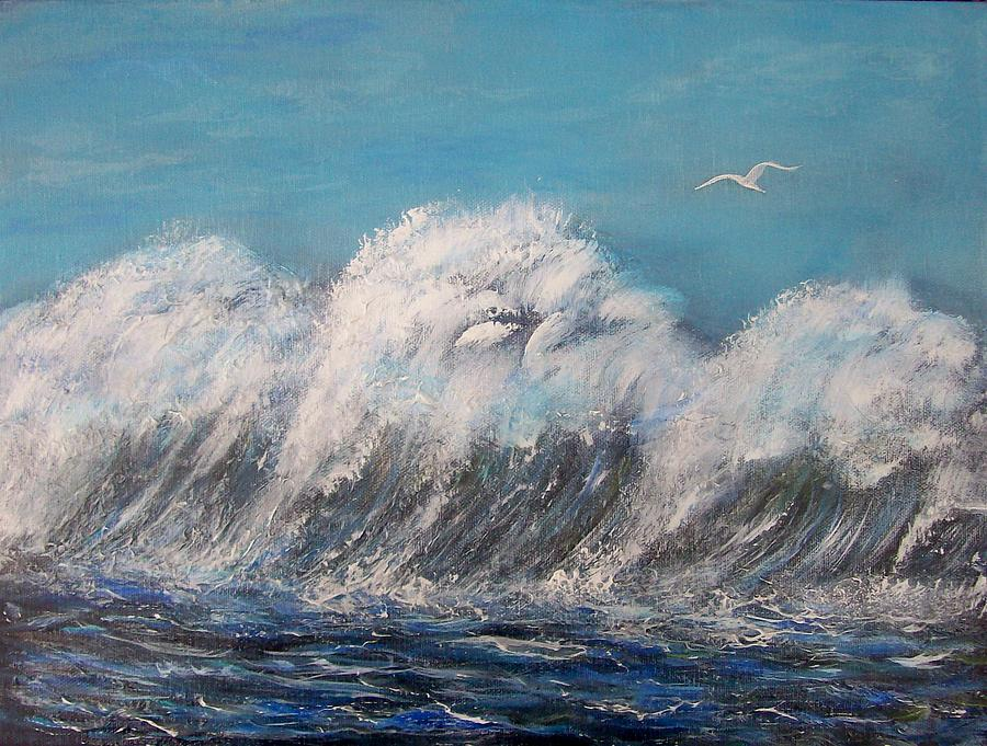 Surreal Tsunami Painting
