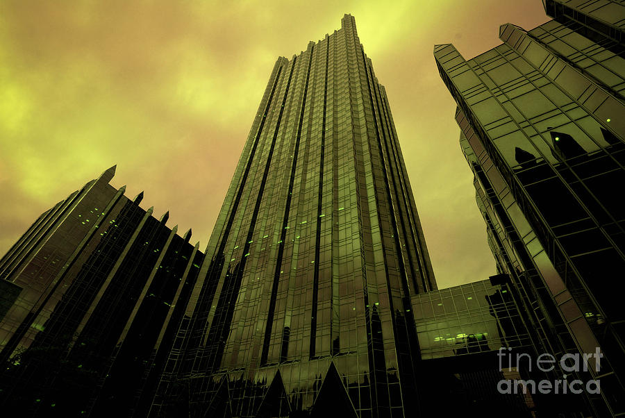 Architectural Photograph - Surreal View Of Ppg Plaza Pittsburgh by Amy Cicconi