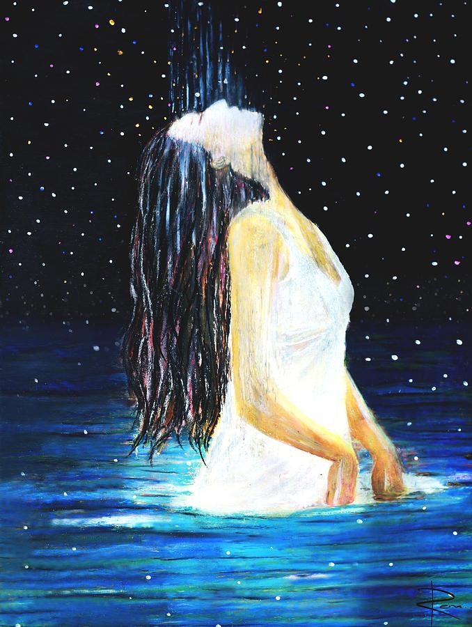 Ocean Painting - Surrender by NARI - Mother Earth Spirit