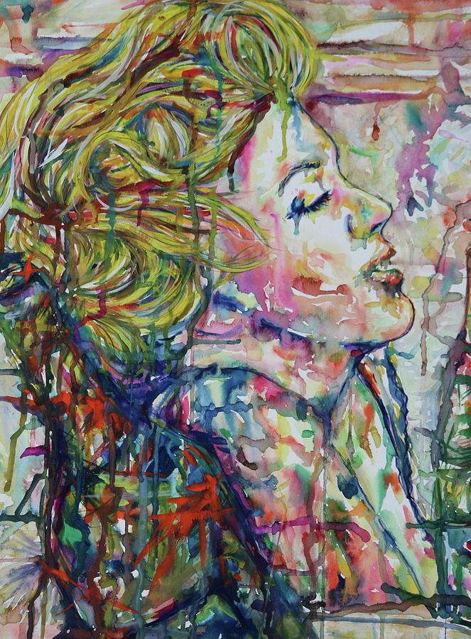 Surround Marylin Mixed Media by Joseph Lawrence Vasile