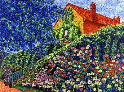 Landscape Painting - Surrounded By Nature Giverny by Max R Scharf