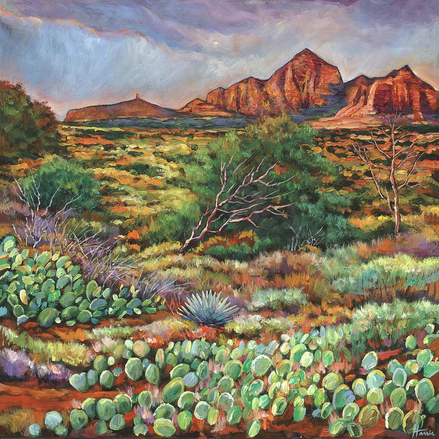 Arizona Desert Painting - Surrounded by Sedona by Johnathan Harris
