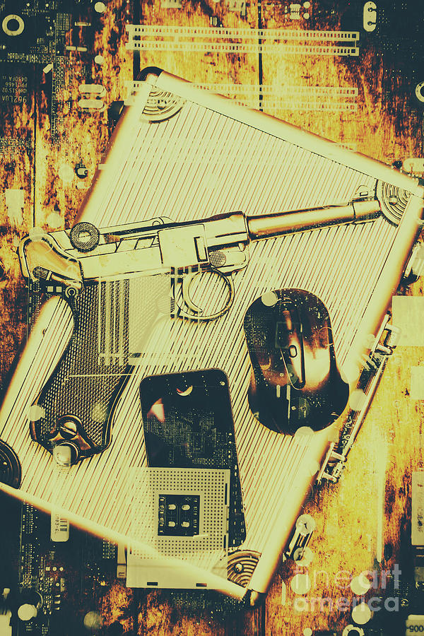 Gun Photograph - Surveillance State by Jorgo Photography - Wall Art Gallery