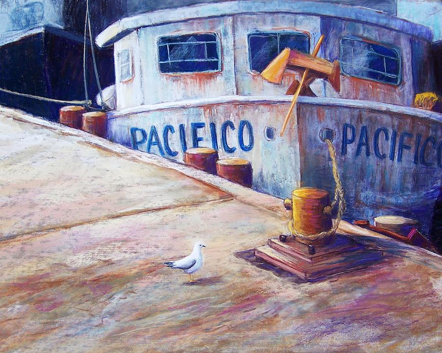 Seascape Pastel - Surveying The Fleet by Candy Mayer
