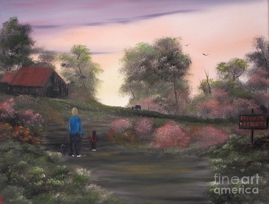 Private Property Painting - Surveying Their New Home. by Cynthia Adams