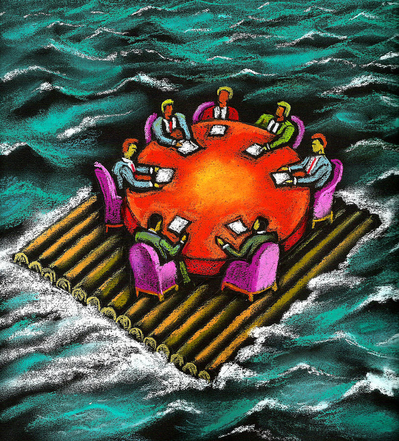 Survival Of Bureaucracy  Painting by Leon Zernitsky