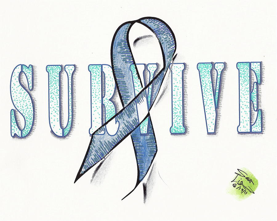 Survive Colon Cancer Mixed Media By Scott Lightfoot
