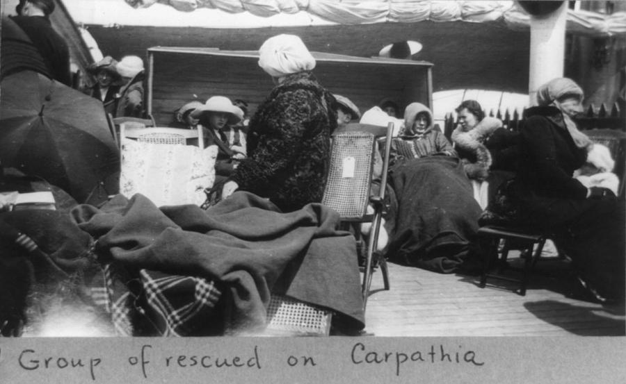 1910s Photograph - Survivors Of The Titanic Disaster by Everett