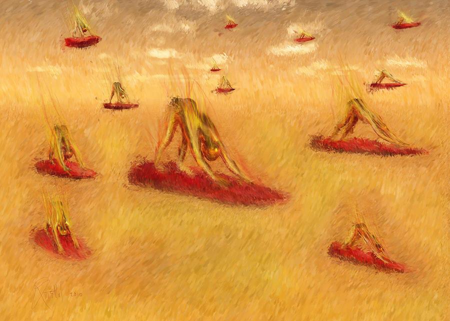 Surya Namaskar 4 Digital Art by Dhakshina Sevak