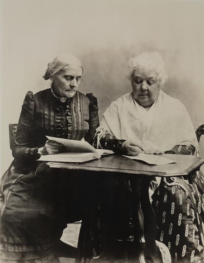 History Photograph - Susan B. Anthony And Elizabeth Cady by Everett