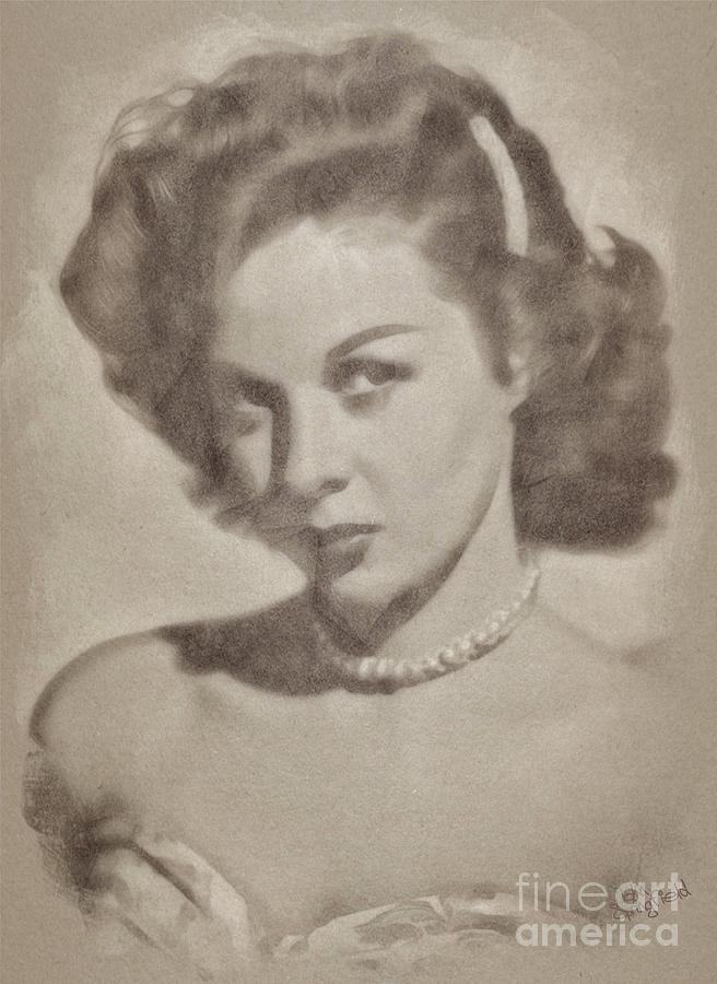 Susan Hayward, Actress Drawing