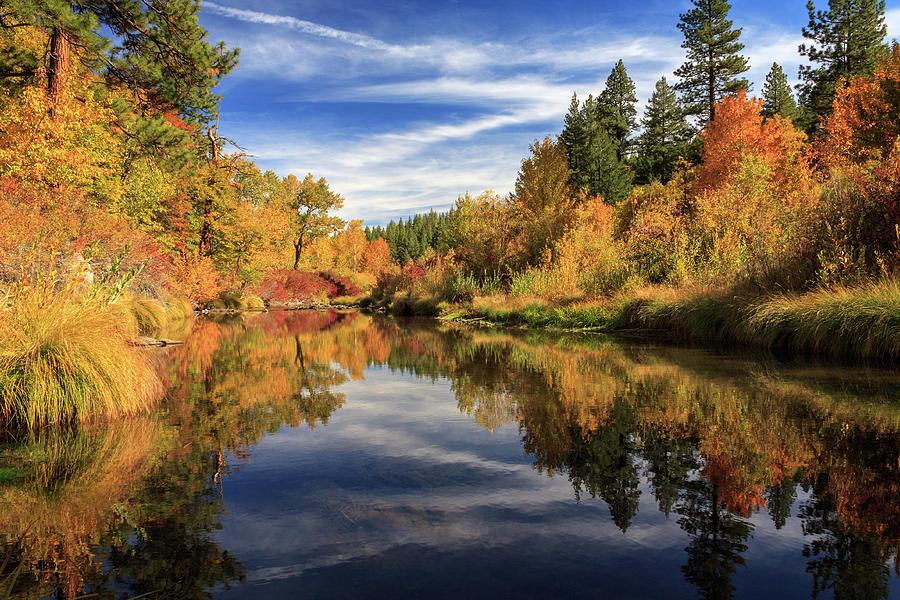 Autumn Photograph - Susan River 10-28-12 by James Eddy
