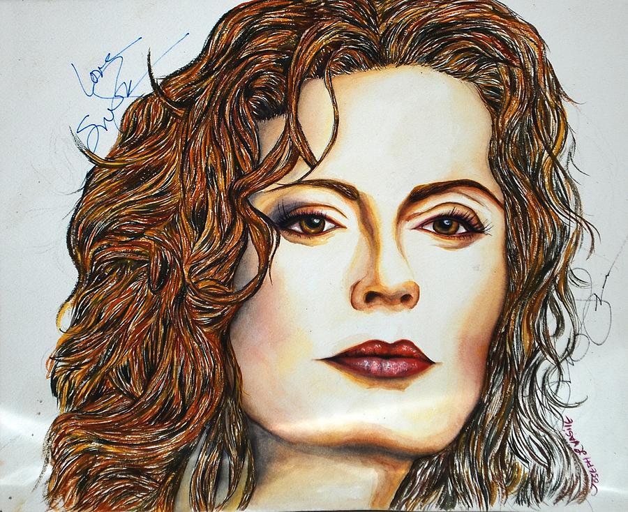 Actress Mixed Media - Susan Sarandon by Joseph Lawrence Vasile