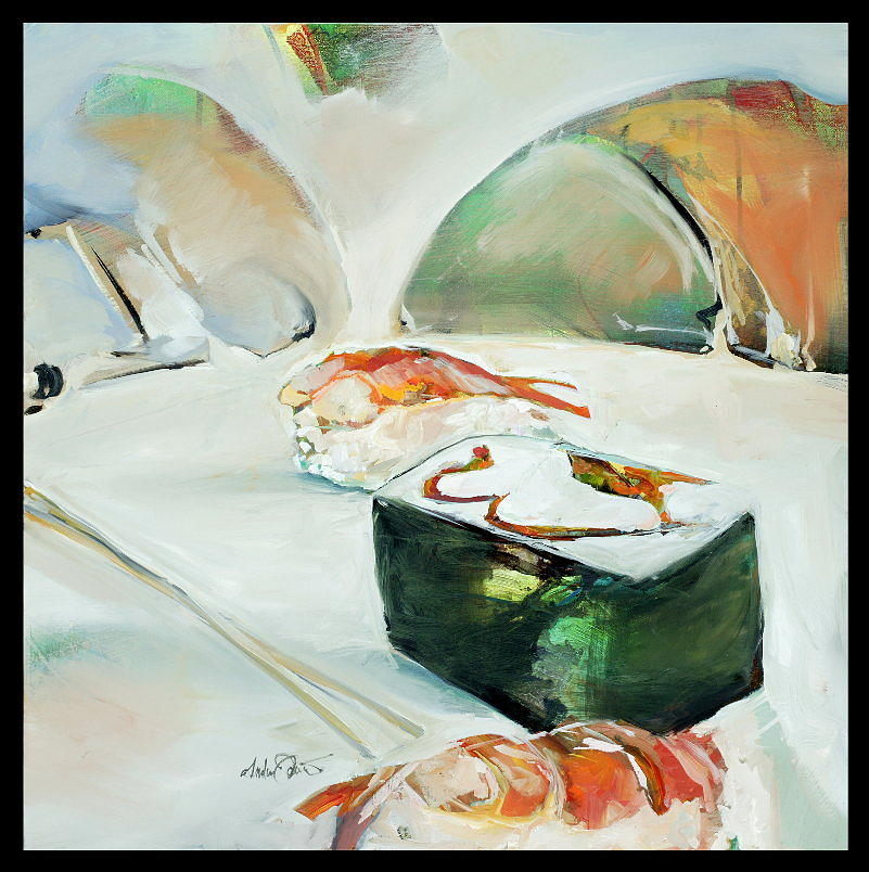 Food Painting - Sushi Plate by Drew Davis