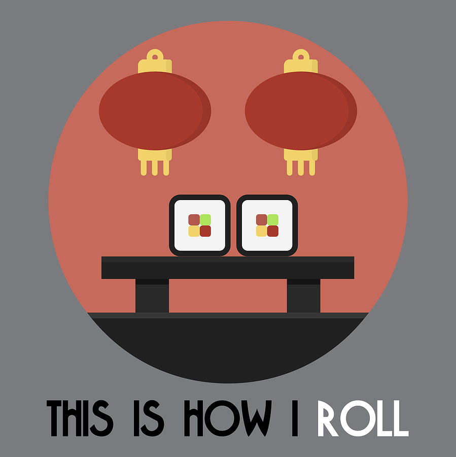 Sushi Poster Print - This Is How I Roll by Beautify My Walls