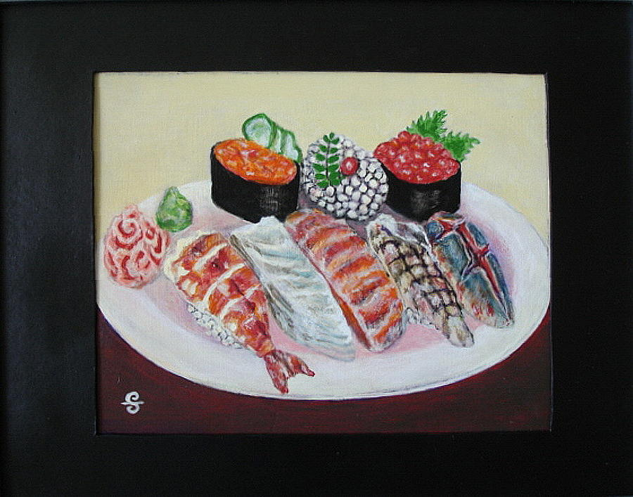 Sushi Painting - Sushi by Silvia Gold