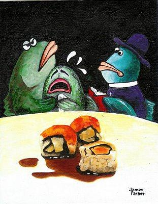 Sushi Tragedy Painting by James Parker