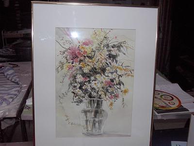Susies Flowers Painting by Maureen Wilkinson