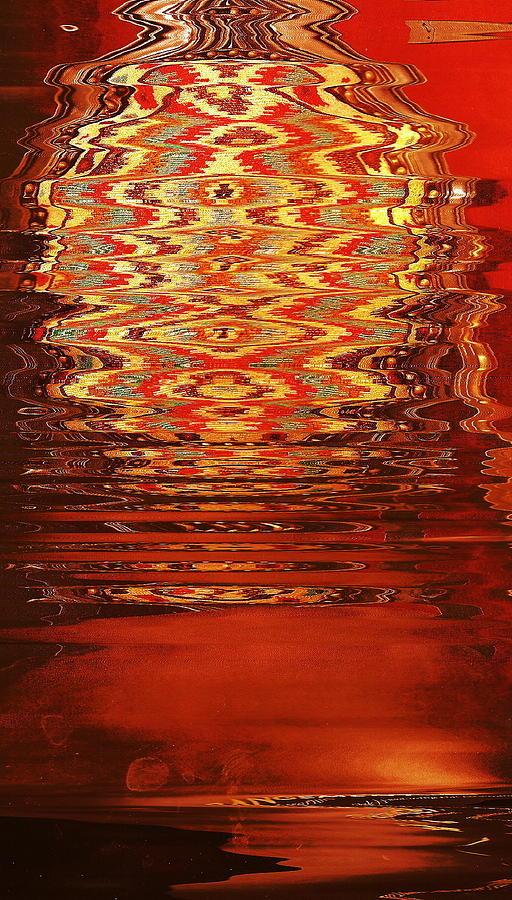 Red Digital Art - Suspended Belief by Anne-Elizabeth Whiteway
