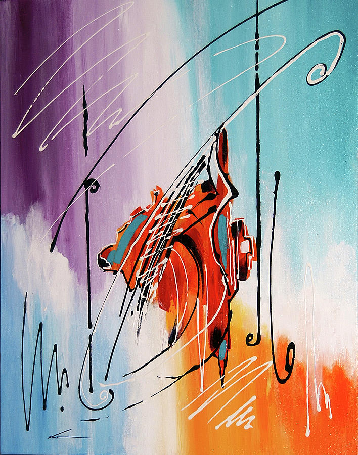 Musical Instruments Painting - Suspended by Francisco Ventura Jr